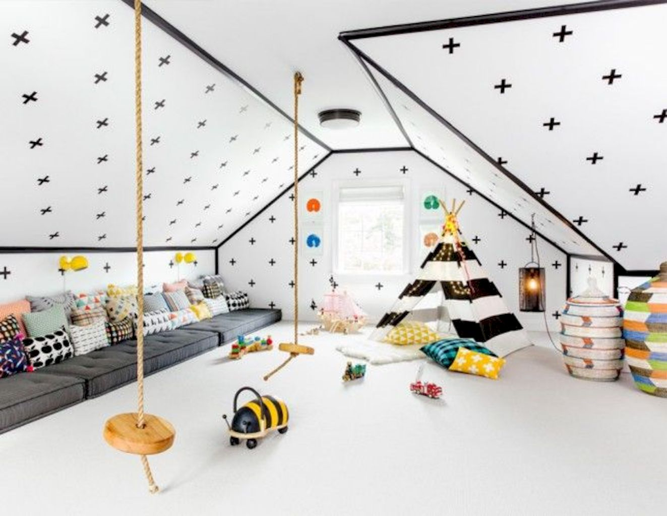Low budget playrooms for small space showing off inspiring decoration and accessories to provide kiddos special spaces for more kids time Image 22