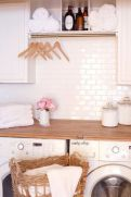 Making a simple laundry room update to maximize its function and look together with cheap accessories and simple layout designs Image 10