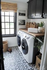 Making a simple laundry room update to maximize its function and look together with cheap accessories and simple layout designs Image 15