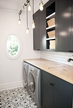 Making a simple laundry room update to maximize its function and look together with cheap accessories and simple layout designs Image 2