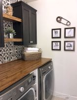 Making a simple laundry room update to maximize its function and look together with cheap accessories and simple layout designs Image 28