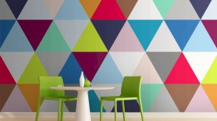 Refreshing and cheerful geometric walls design ideas best for kids and nursery rooms improving playful color scheme Image 20