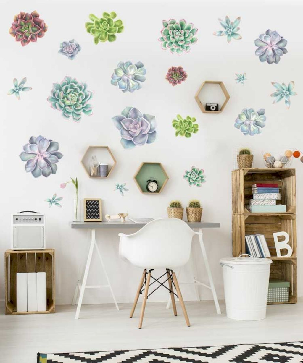 Refreshing sticker art wall decal giving floral accessories refreshing kids and nursery rooms wall design ideas Image 34
