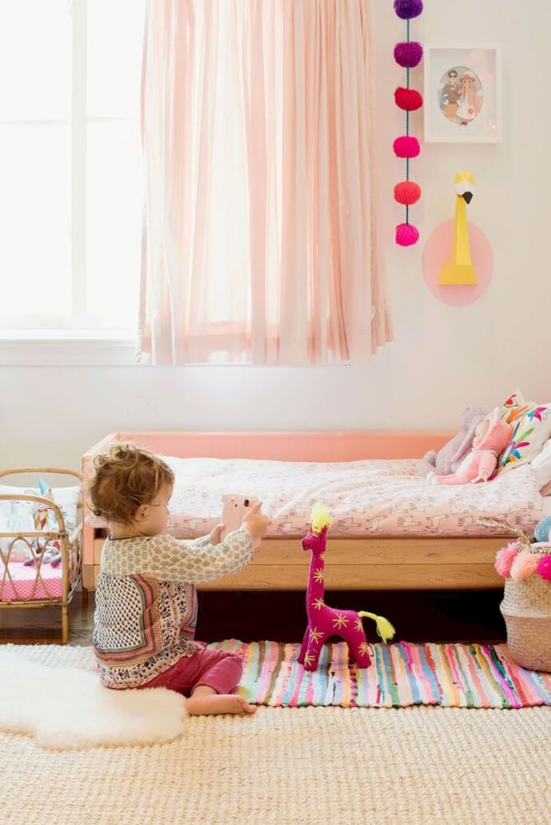 Best Shabby Chic and Retro Inspired Children's Rooms Ideas with Calming Color Schemes