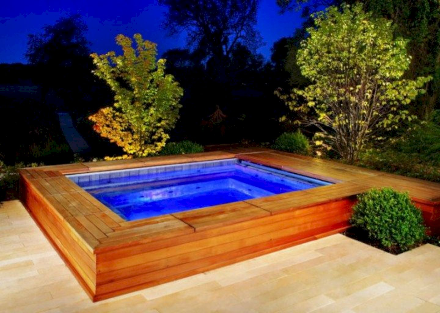 Simple pool designs built above ground designed with cheap materials for simple outdoor relieves Image 17