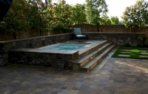 Simple pool designs built above ground designed with cheap materials for simple outdoor relieves Image 22