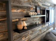 Smart interior upgrade showing wood pallets wall accent that looks amazing in a modern home which includes traditional and rustic element mixing Image 29