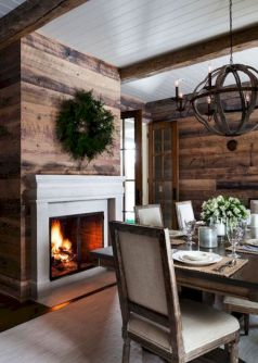 Smart interior upgrade showing wood pallets wall accent that looks amazing in a modern home which includes traditional and rustic element mixing Image 32