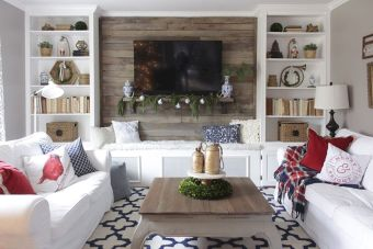 Smart interior upgrade showing wood pallets wall accent that looks amazing in a modern home which includes traditional and rustic element mixing Image 34