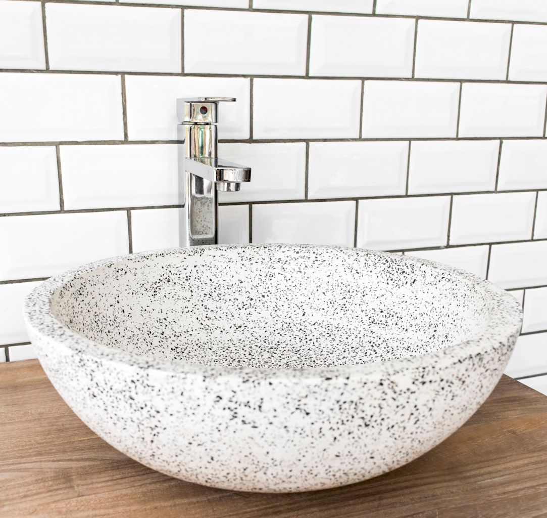 Terrazzo tiles used in bathroom renovation showing classical comeback that bring an artistic retro statement in your home Image 31