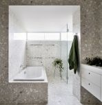Terrazzo tiles used in bathroom renovation showing classical comeback that bring an artistic retro statement in your home Image 36