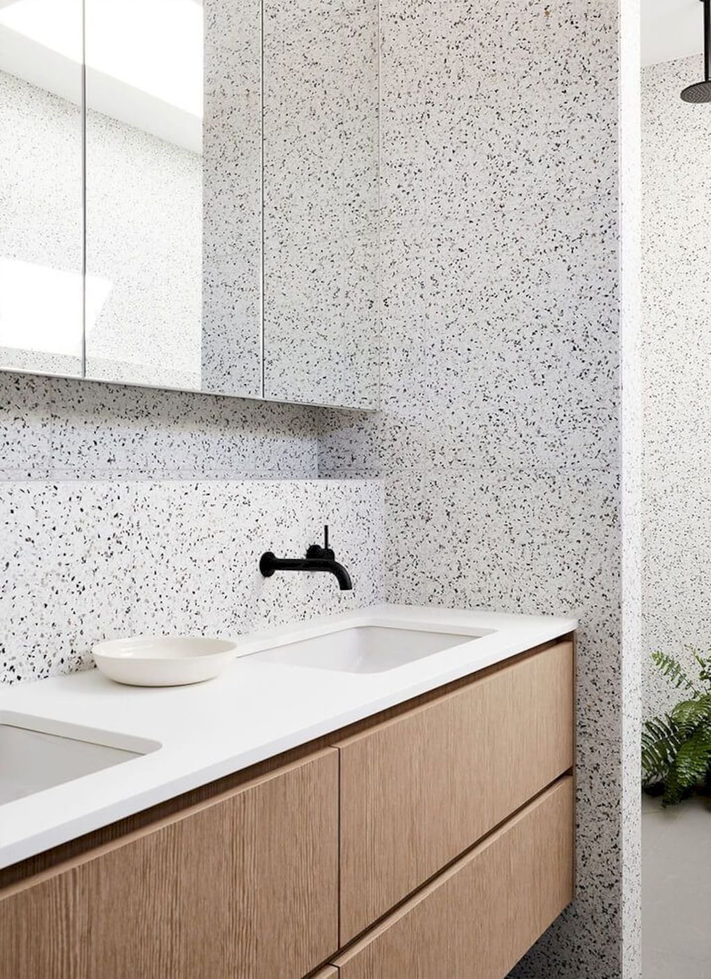 Terrazzo tiles used in bathroom renovation showing classical comeback that bring an artistic retro statement in your home Image 38