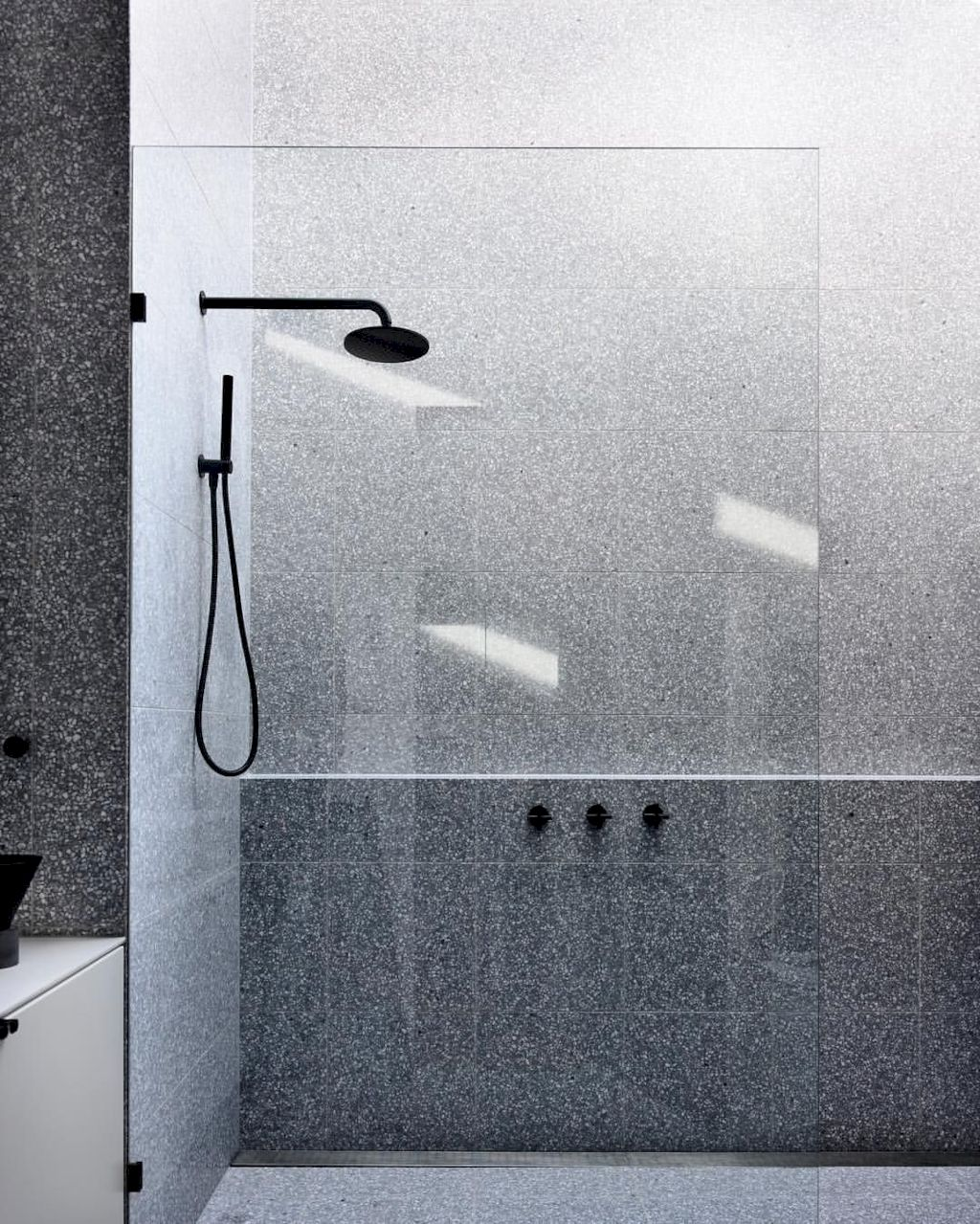 Terrazzo tiles used in bathroom renovation showing classical comeback that bring an artistic retro statement in your home Image 42