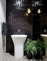 Terrazzo tiles used in bathroom renovation showing classical comeback that bring an artistic retro statement in your home Image 48