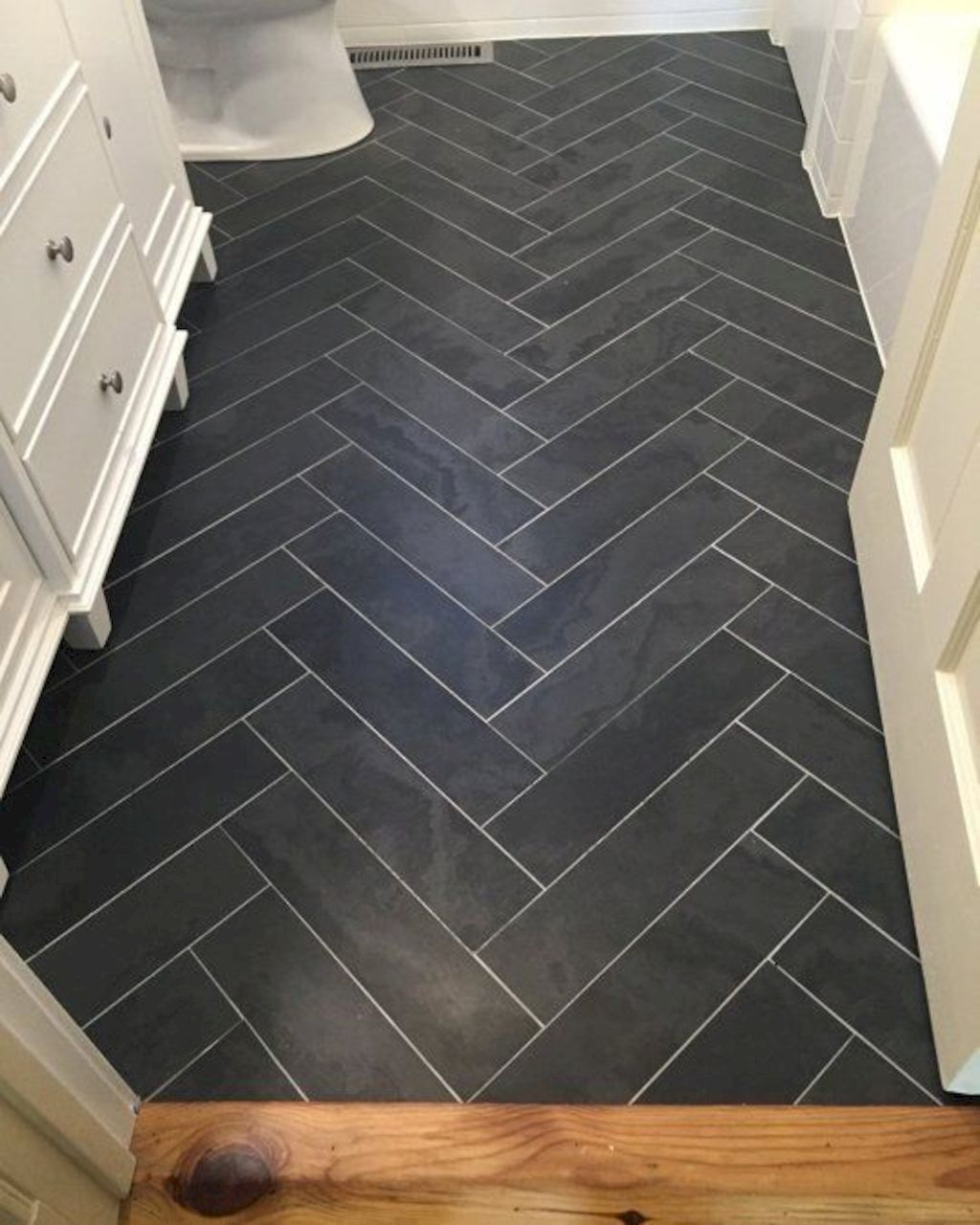 Unique bathroom floor design with artsy pattern improvement painted on tiles and amazing floor update with beautiful rug designs Image 53