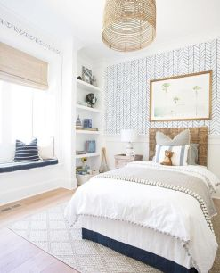 Warm and lovely kids bedroom decoration using a soft color combination showing a neutral scheme that looks beautiful and adorable Image 34