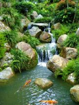 Amazing waterfall ideas giving the best look and panoramic schemes for your landscaping style Image 8