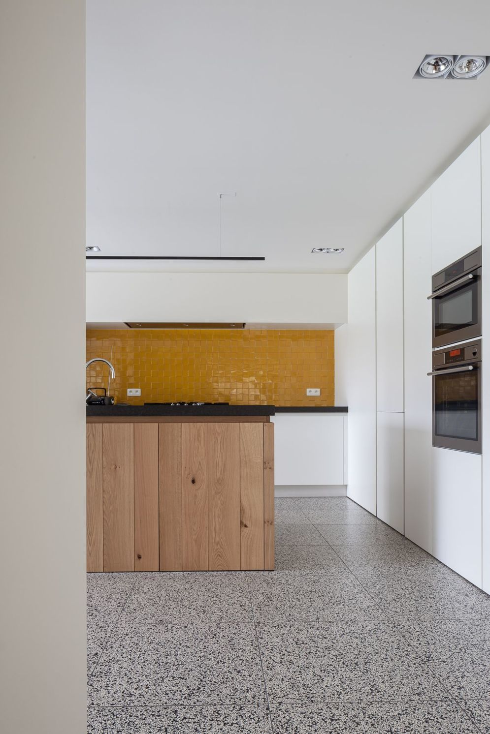 Artsy terrazzo flooring bringing back the classy vintage accent combined in modern simple interior style Image 15