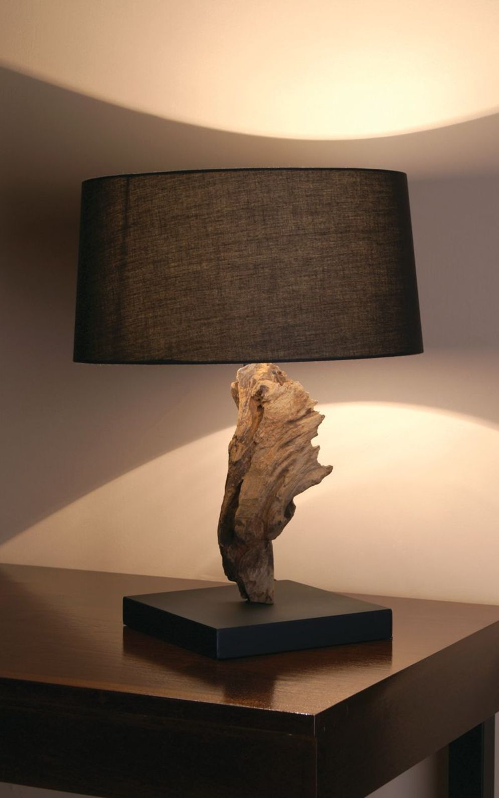 Awesome driftwood lamp stands giving authentic decoration in natural art style Image 3