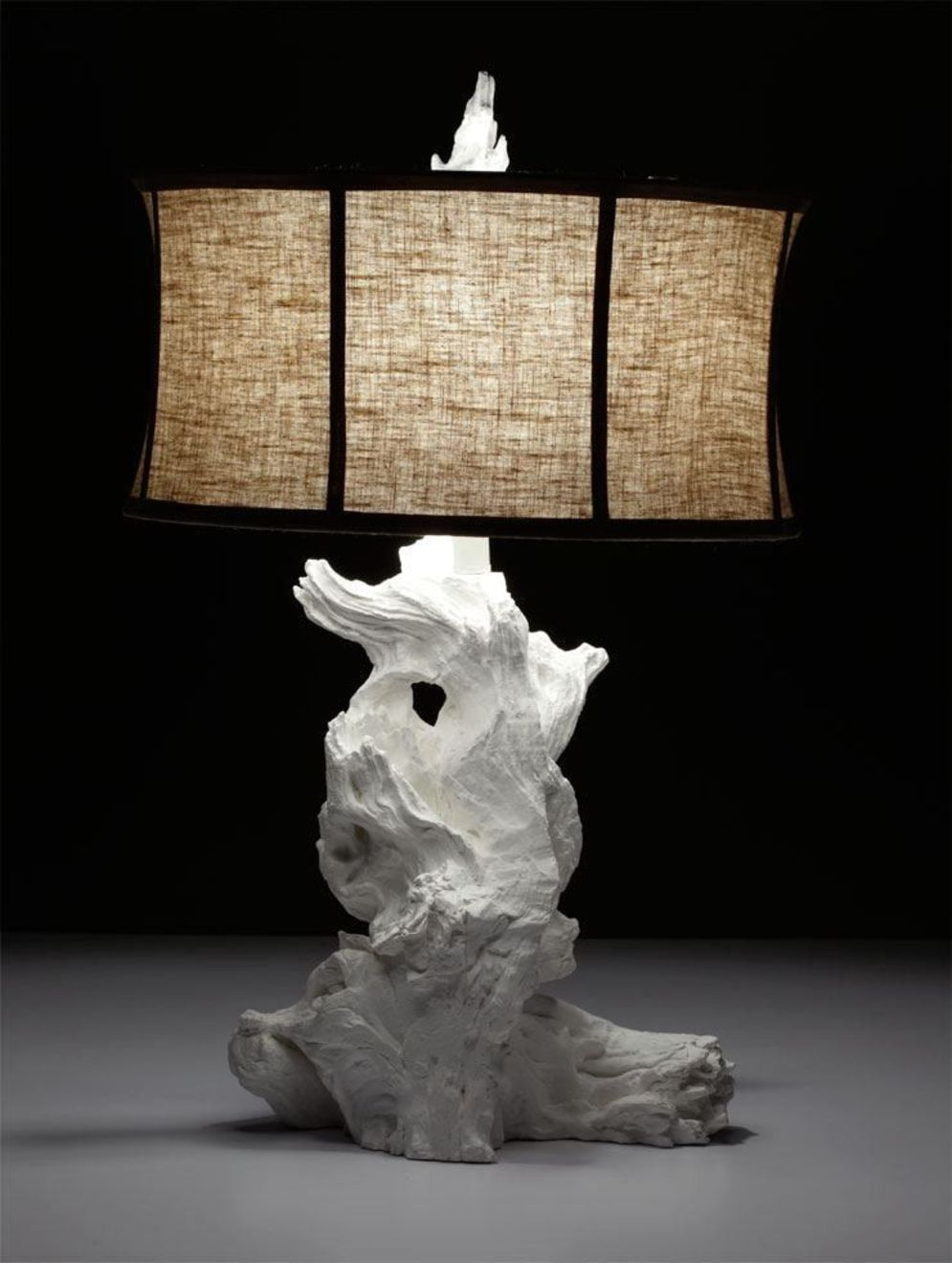 Awesome driftwood lamp stands giving authentic decoration in natural art style Image 4