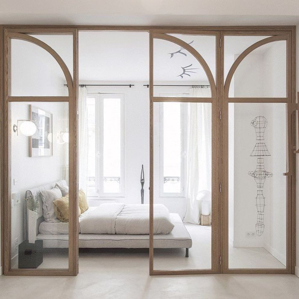 Bright home concepts with modern style of glass partition giving vast interior sense of space Image 11