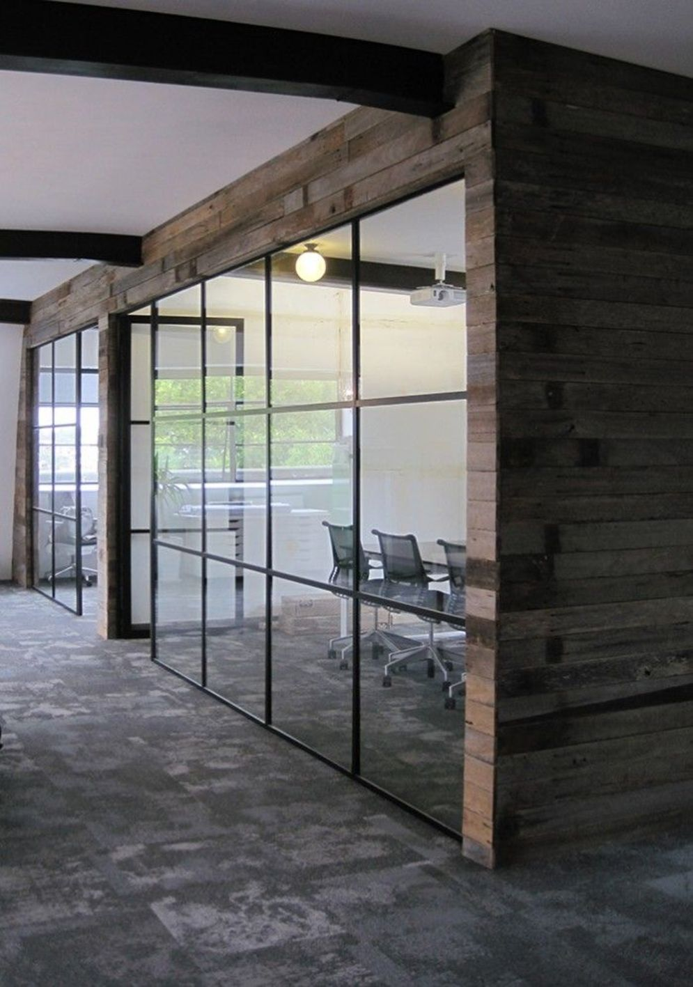 Bright home concepts with modern style of glass partition giving vast interior sense of space Image 3