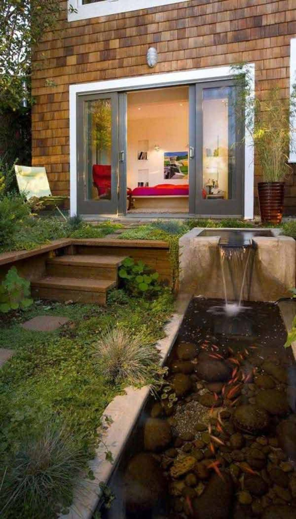 Clever exterior update showing different fresh fish pond designs Image 22