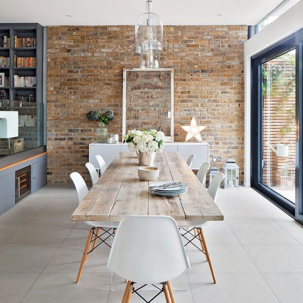 Clever ideas to make exotic interior update with rustic brick wall accents Image 19