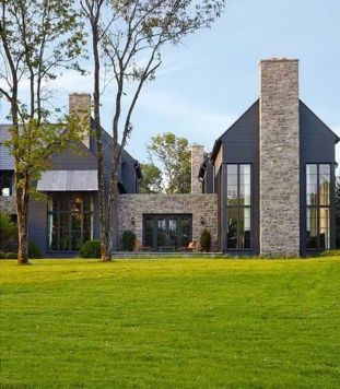 Countryside house with modern Farmhouse exterior design bringing up the traditional style in new classy look Image 13