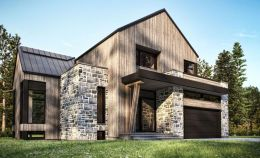 Countryside house with modern Farmhouse exterior design bringing up the traditional style in new classy look Image 17