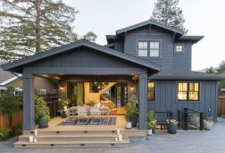 Countryside house with modern Farmhouse exterior design bringing up the traditional style in new classy look Image 7