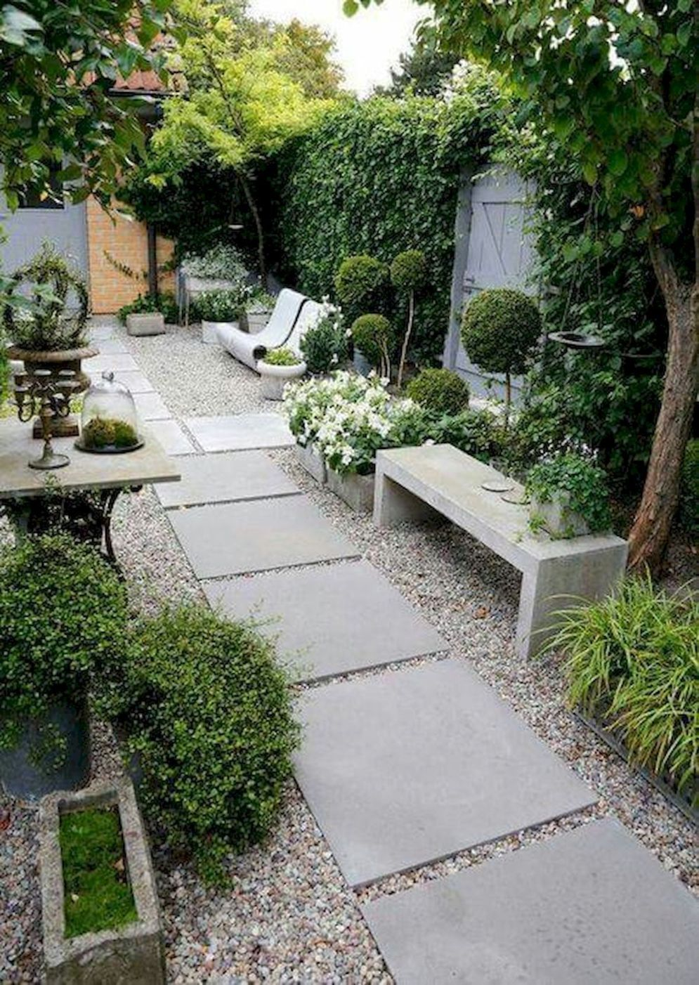 Green outdoor ideas with calming vibes from Zen garden style showing harmonious and balanced various natural elements Image 26