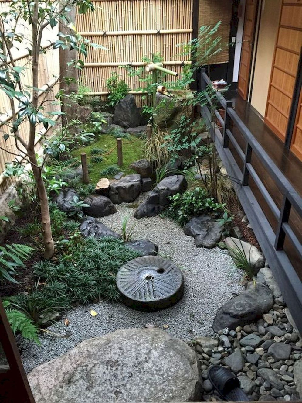 Green outdoor ideas with calming vibes from Zen garden style showing harmonious and balanced various natural elements Image 45