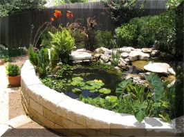 Inspiring small fish pond designs to upgrade the outdoor landscape for more lively and refreshing Image 29
