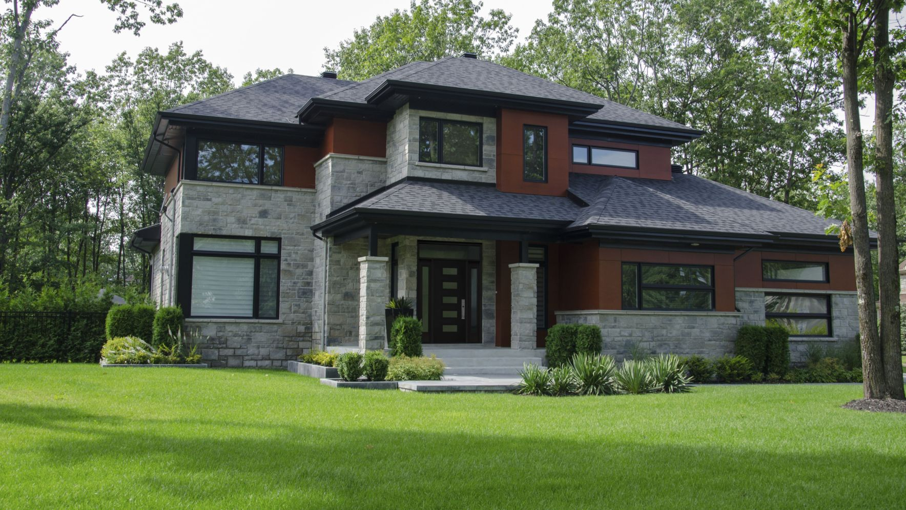 Modern house with new farmhouse exterior design pulling out country charm and warm welcoming display Image 39