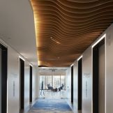 Modern office designs showing artistic false ceiling decoration Image 25