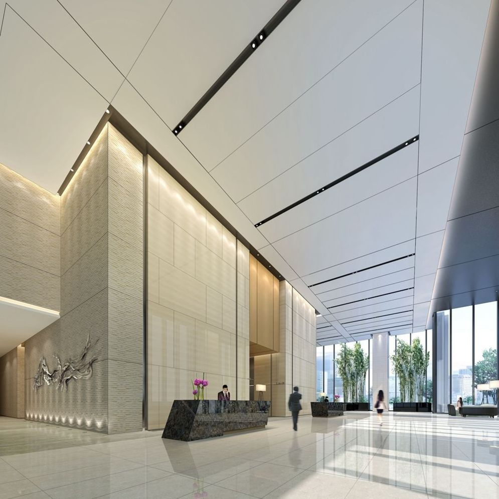 Modern office designs showing artistic false ceiling decoration Image 27