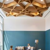Modern office designs showing artistic false ceiling decoration Image 33