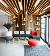 Modern office designs showing artistic false ceiling decoration Image 37