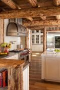 Rustic cabin kitchen designs showing warm wooden structure in earthy natural palettes Image 21