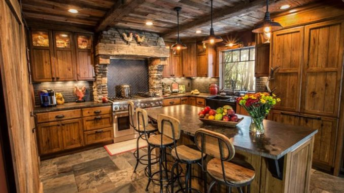 40 Kitchen Ideas Giving The Warm Cabin Designs In Amazing Rustic