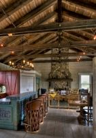 Warm and friendly cabin kitchen displaying rustic interior styles providing ideal space for a perfect retreat Image 25