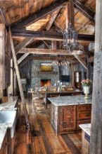 Warm and friendly cabin kitchen displaying rustic interior styles providing ideal space for a perfect retreat Image 41