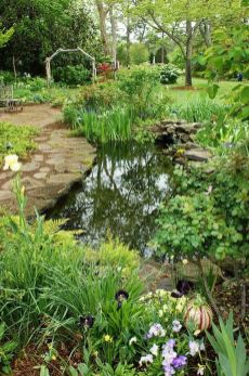 Water garden ideas for more natural backyard feeling with beautiful aquatic plants and ponds Image 31