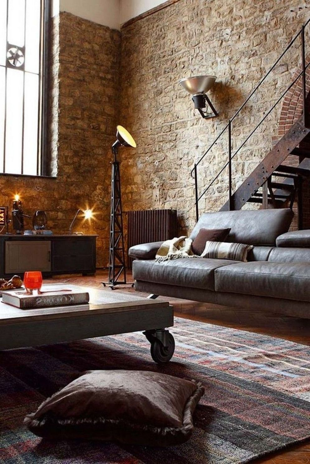 Wonderful interior statement brick wall improving interior display with modern rustic combination Image 45