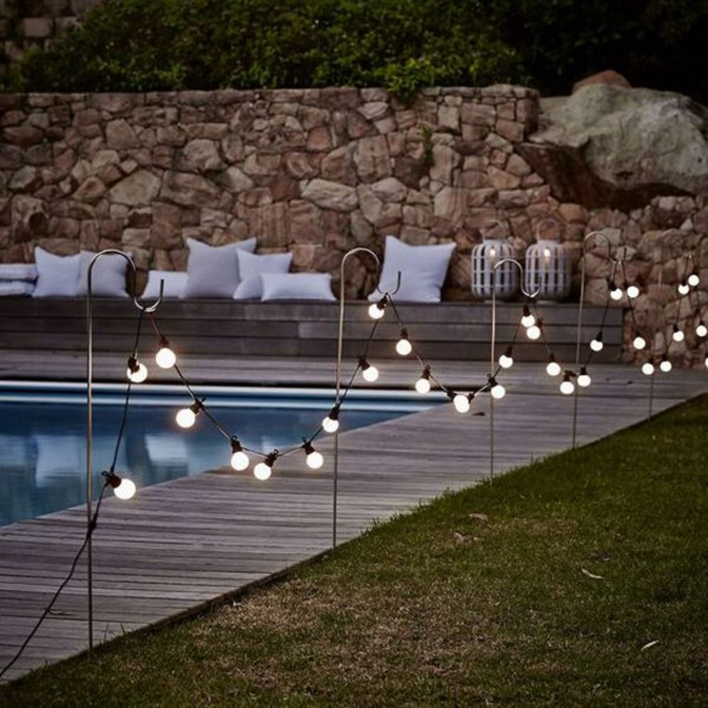 Amazing festoon lighting to enhance beautiful garden lighting ideas with fairy outdoor display Image 1