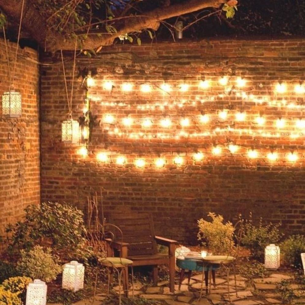 Amazing festoon lighting to enhance beautiful garden lighting ideas with fairy outdoor display Image 3