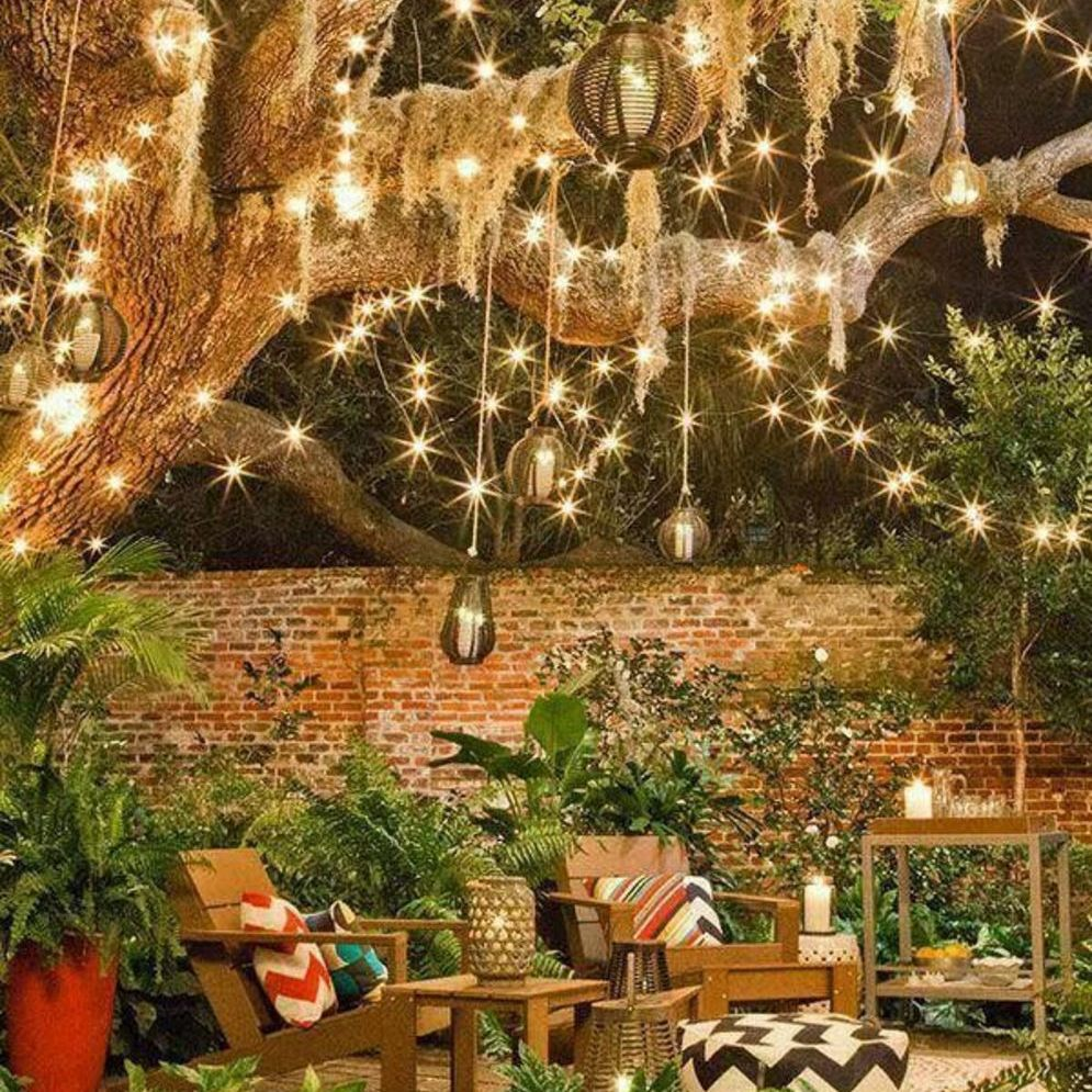 Amazing festoon lighting to enhance beautiful garden lighting ideas with fairy outdoor display Image 9