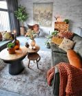 Artful interior style showcasing eclectic Bohemian display with ethnic rugs as decoration Image 12