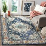 Beautiful Bohemian living style displaying artsy rug designs with exotic pattern Image 25